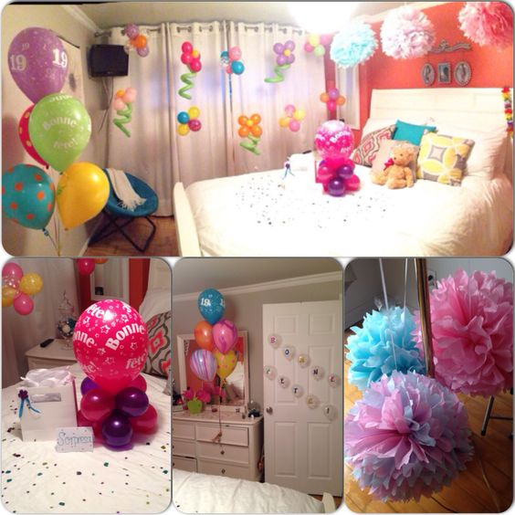 Room decoration as a surprise for my best friend 39 s for B day decoration ideas