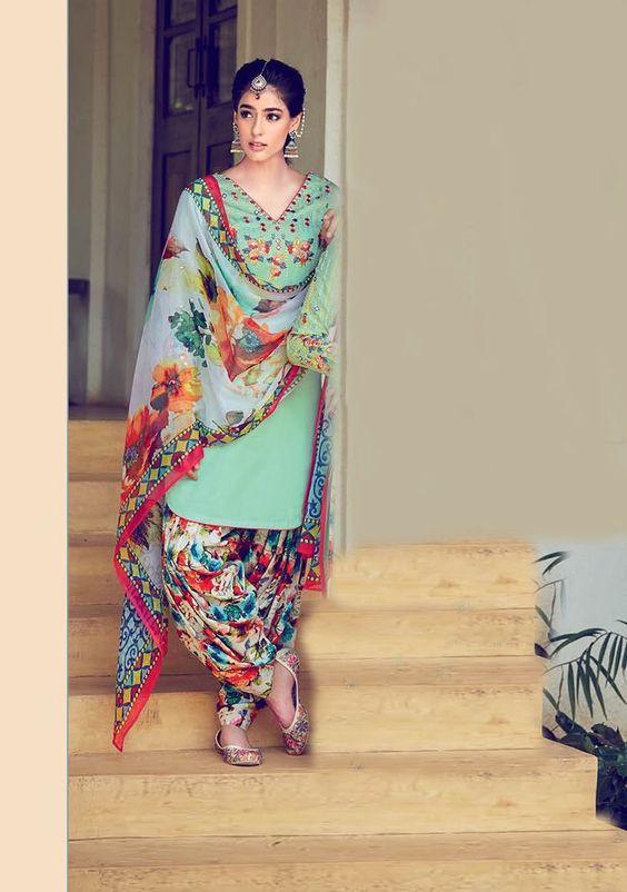 Summer Shalwar Kameez Designs Floral chiffon outfit