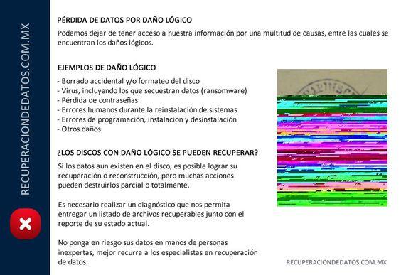 Introducción al daño lógico - Recuperaciondedatos.com.mx