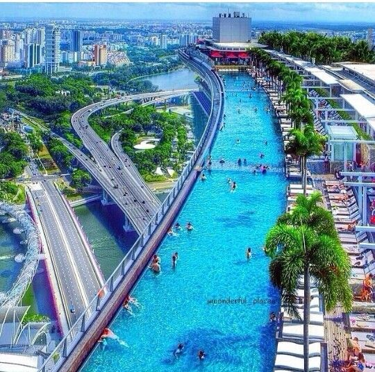Infinite pool hotel marina bay sands singapore 50 most for Beautiful hotels of the world