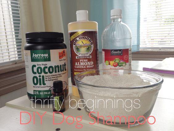 DIY Dog Shampoo Natural Homemade Castile Oatmeal Coconut Oil Essential