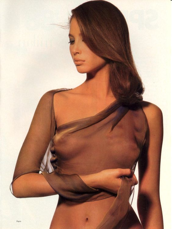 """Christy Turlington in """"Pure Style"""" by Irving Penn for Vogue US, January 1988."""