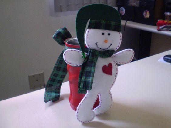 Boneco de Natal na lata de Nescau