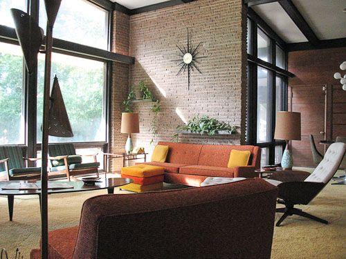 1954 home designed by architect John Erwin Ramsay, in North Carolina.
