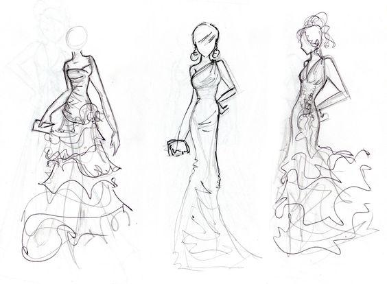 Formaci n en massaber t cnicas de dibujo para figurines for Dibujos de disenos de moda