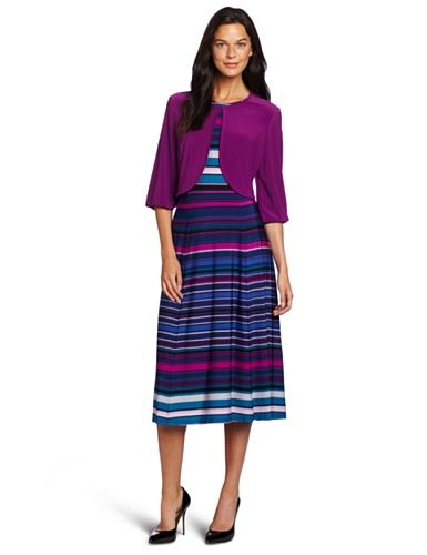 40% Off was $108.00, now is $64.80! Danny  Nicole Women`s Striped Jacket Dress + Free Shipping