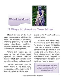 Can a writer learn writing lessons from Mozart? Writer's Path/PremierIssue/cmyrtisgarcia - Pinned from @Glossi, a free digital magazine creation platform