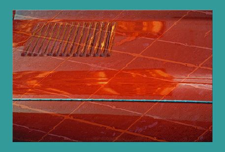 'orange mit hellblau pp' von Rudolf Büttner bei artflakes.com als Poster oder Kunstdruck $18.71