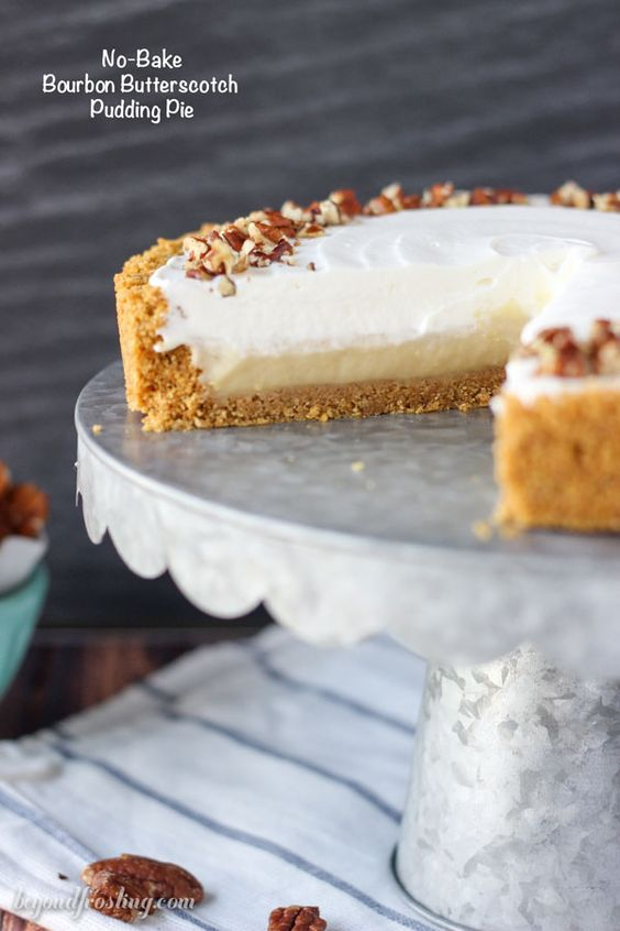 Butterscotch Pudding Pie is a homemade brown sugar butterscotch ...