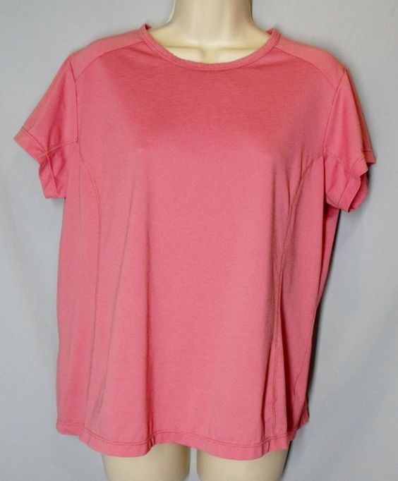 * COLUMBIA size XL pink athletic top shirt OMNI DRY short sleeve lightweight *