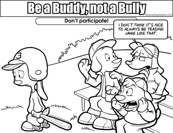 bullying and teasing coloring pages - photo#2
