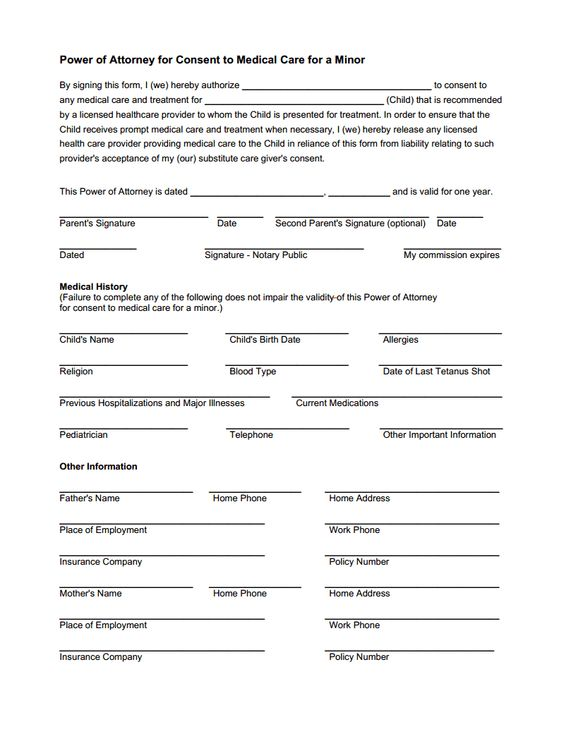 Medical Release Form  Clara    Medical Parents And Babies