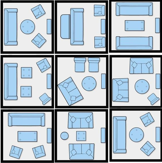 How To Efficiently Arrange The Furniture In A Small Living room | ET phone home | Pinterest