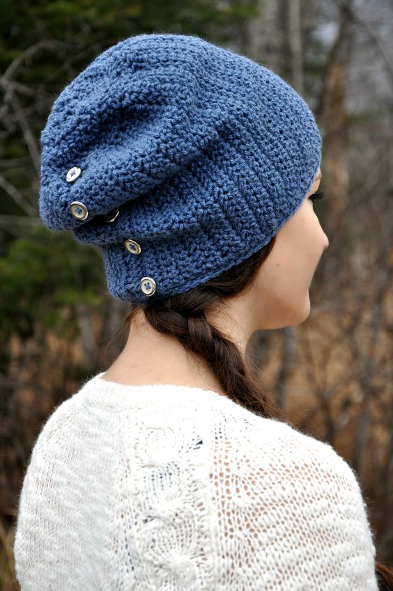 yarn d slouch crochet winter crochet crocheted hats crochet patterns ...