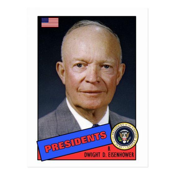 Dwight D. Eisenhower President Baseball Card