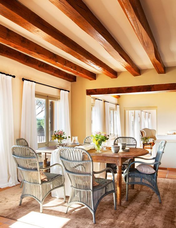 Perfect Country House in Spain, design, décor, interior, Spain, house, home, cozy, dining room