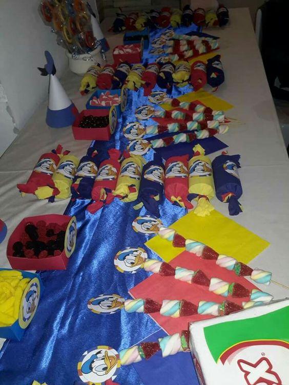 Cumpleaños con decoración del Pato  Donald