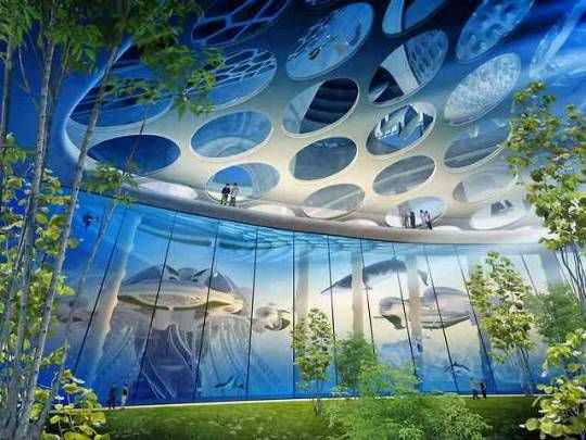 Solarpunk Aesthetic Sustainable City Underwater City Futuristic Architecture