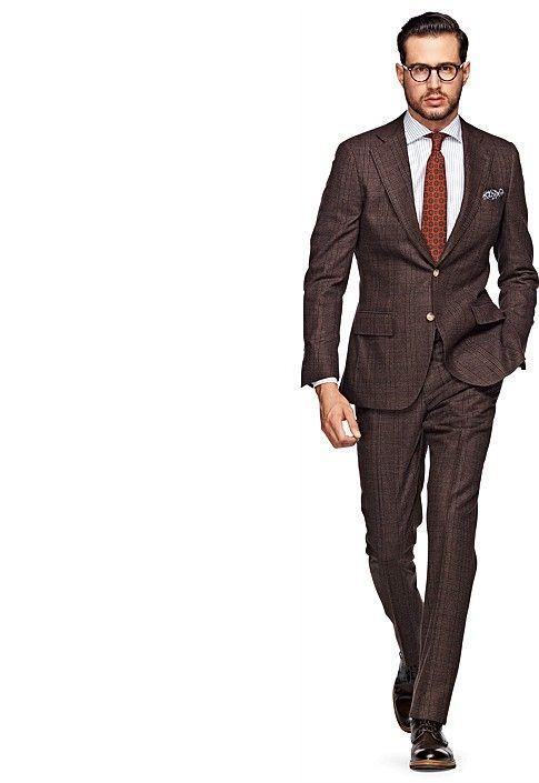 Lazio Brown Check Suit- $469 (Suit Supply) | MAN UP ( Fashion