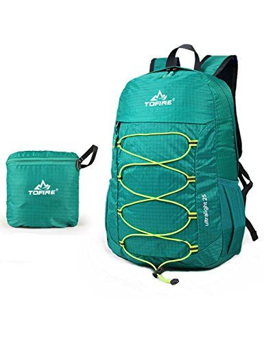 Leaper Outdoor Ultra-light Water-repellent 25L Packable Handy Lightweight Travel Backpack Daypack for Camping Hiking Trekking Mountain Climbing for Men and Women Green * MORE DETAILS @ http://www.wolverinetravel.com/Travel_Items/100080/enn