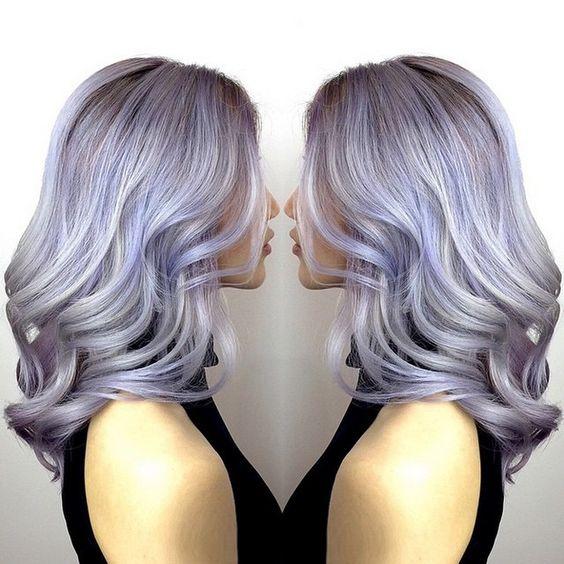 50 Shades of Pastel Purple  Grey Balayage. Hair Inspiration zalonku jakarta