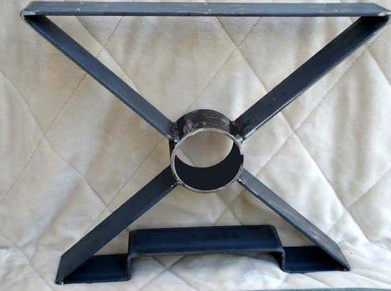 Style 001 steel table legs metal table legs steel for Diy metal end table