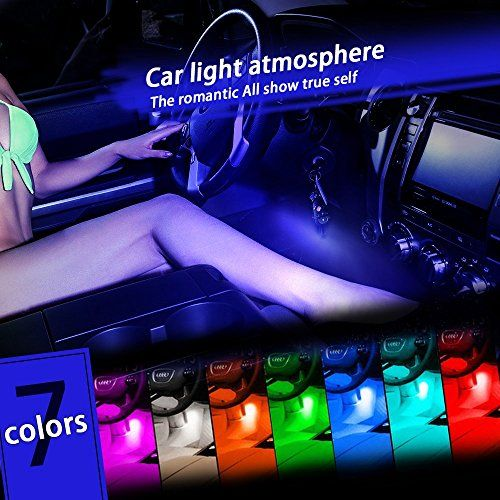 Thunder® 12V 4*3 LED Car Interior Decorative Atmosphere Neon Light Lamp - Best in Automotive Interior Accessories - Auto Car Floor Lights with Glowing Blue Bright Light for All Vehicles - http://automotive.wegetmore.com/thunder-12v-43-led-car-interior-decorative-atmosphere-neon-light-lamp-best-in-automotive-interior-accessories-auto-car-floor-lights-with-glowing-blue-bright-light-for-all-vehicles-2/
