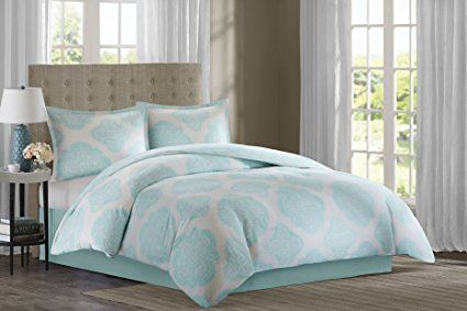 Echo Design Bindi Comforter Set, Queen, Aqua