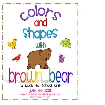 Get ready to have fun teaching colors and shapes with this Brown Bear Unit.  This packets has lots of math and literacy activities that are primari...
