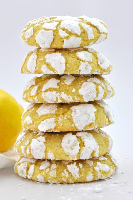 Lemon Olive Oil Crinkle Cookies