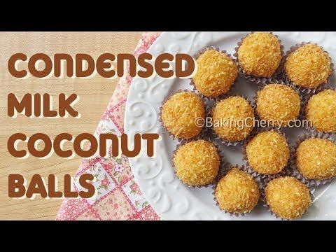 Condensed Milk Coconut Balls Recipe If You Like Coconut You Will Love This Sweet And Creamy Treat Recipe Coconut Coconutb Schokomousse Backen Weihnachten