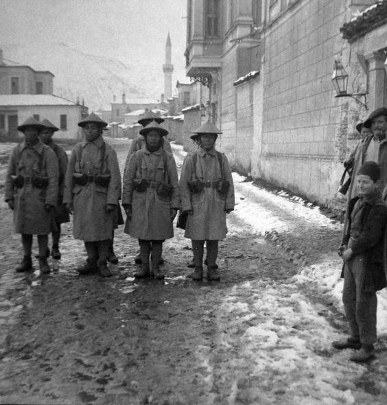 Sharp Shooters from Indo-China in Bitola in 1917.
