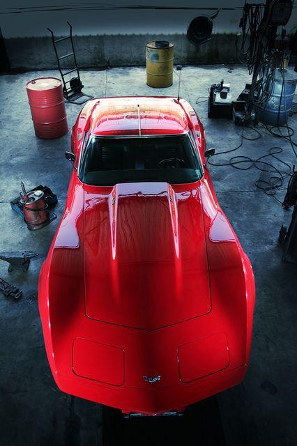 A magnificent shot of a Corvette.                                                                                                                                                      Plus