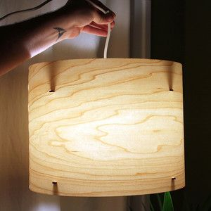 Port Rhombus Design Artfully Refined Wood Lights Ember Ring Pendant Lamp 14, $72, now featured on Fab.