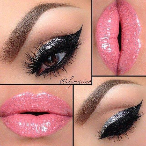Silver black pink
