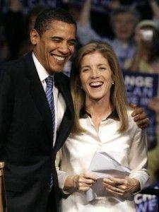 President Obama with Caroline Kennedy.