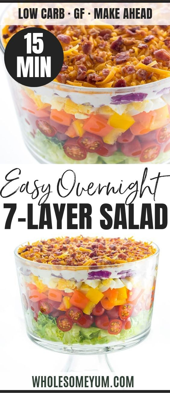 7 Layer Salad Recipe With Mayonnaise Quick Easy Layered Salad Recipes Layered Salad 7 Layer Salad