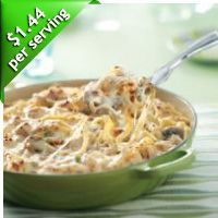 Turkey Fettucine Skillet #foods #recipes