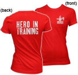 """Red (Womens) """"Hero In Training"""" SoftStyle Fit Hero Rush Tee  Price: $22.00"""