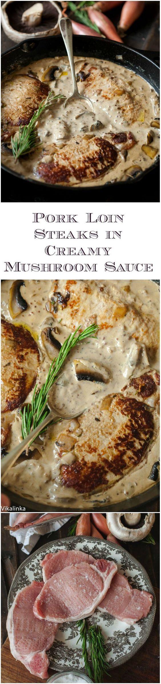 mushroom sauce steaks mushrooms pork creamy mushrooms sauces mushroom ...