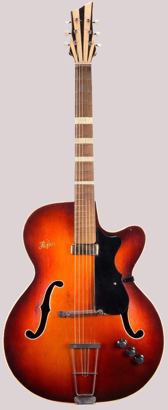 50s Hofner archtop guitar