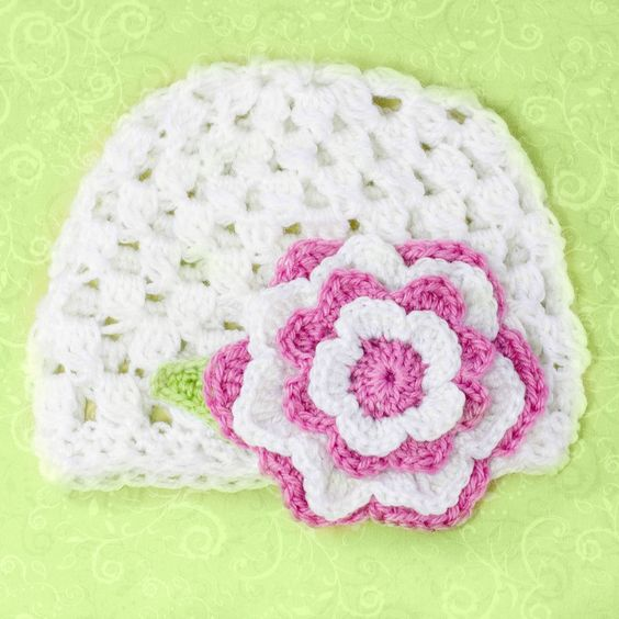 Love~ 12 Months - 3 Year Old Beanie Pattern: Crochet Hat, Crochet Flower, 12 Month, Crochet Pattern, Crochet Beanie, Crochet Idea