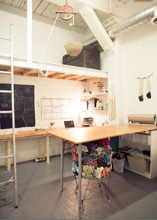 new STATE studio / with basket pulley for lifting supplies to the loft