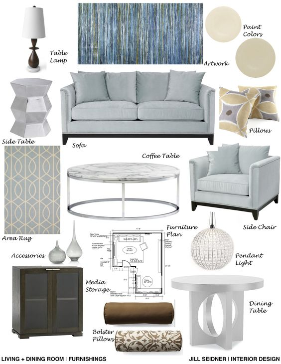 Living Room Furnishings Concept Board