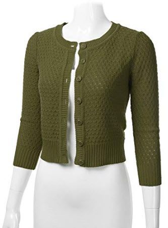 Etecredpow Womens Casual Button Cropped Pullover Round Neck Sweatshirts Jacket