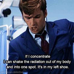 It's in my left shoe.
