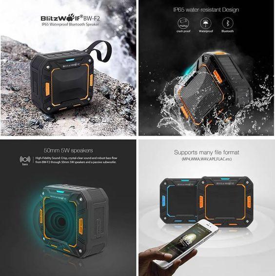 Altavoces portatiles para moviles bluetooth impermeables para llevar de viaje. ¡Altavoces inalambricos resistentes al agua de lluvia!