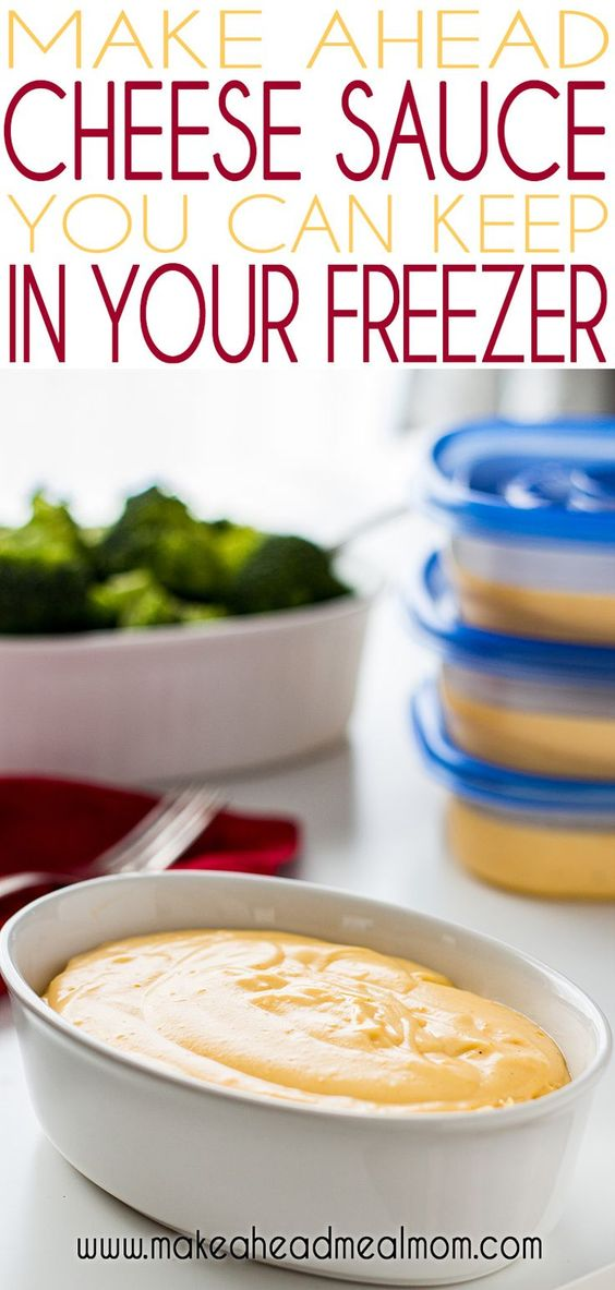 Freezer Cheese Sauce