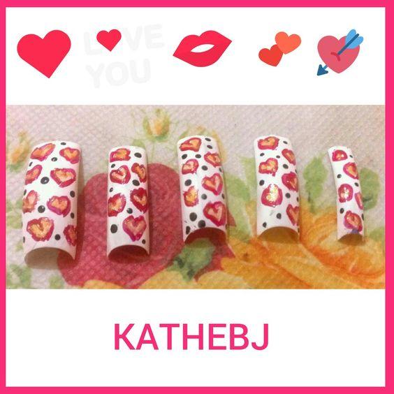 #lovely #sweet #diseño #design  #uñas #nails  #KATHEBJ ✔