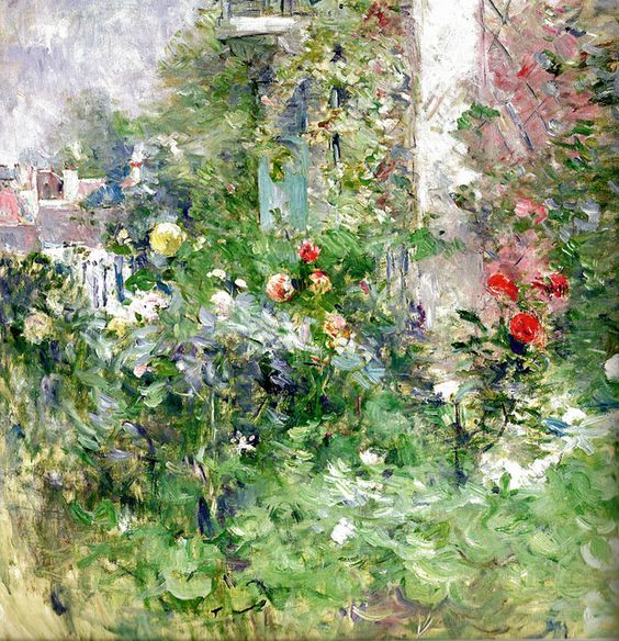 Berthe Morisot - The Gardin of Bougival, 1884 (Musee Marmottan Monet - Paris France) at Museo Thyssen-Bornemisza Madrid Spain | Flickr - Photo Sharing!:
